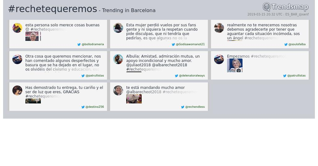 Trendsmap Barcelona's photo on #rechetequeremos