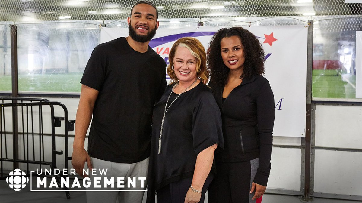 No game today. I'm on @CBCTelevision TONIGHT with my sis @dsherie at 8:30pm. Watch us in the premiere episode of #UnderNewManagement hosted by @ArleneDickinson to see what happens 🤔 https://t.co/rBKeRU9PUp