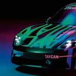 Image for the Tweet beginning: .@Porsche Taycan teaser photos give