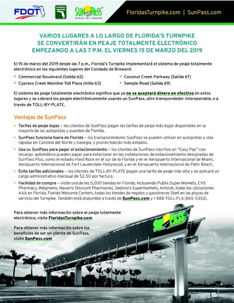 Commercial sunpass