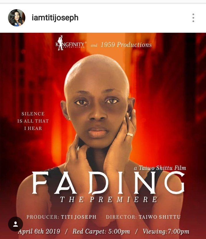 @popcornandreels thank you for hosting our very own @IamTitijoseph to talk on your show on WazobiaTV... We looking forward to the Premier of this great work in April. Please don't forget to follow her on IG.  #Fading #FadingTheMovie pic.twitter.com/u4BD3Z1K5Y