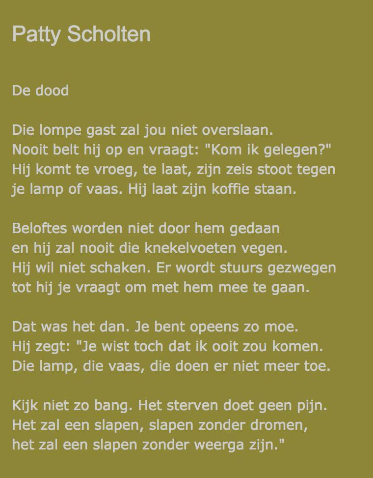 Lieke Marsman على تويتر Dichter Patty Scholten Is Vandaag