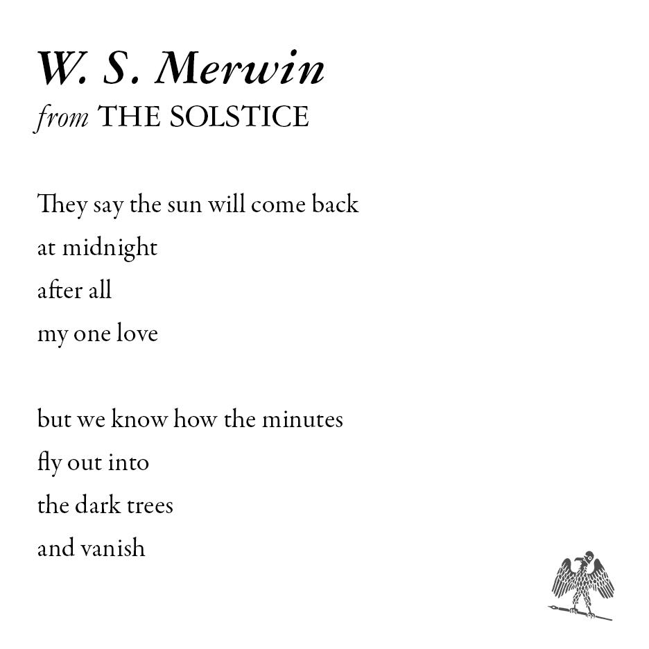 The Paris Review's photo on W.S. Merwin
