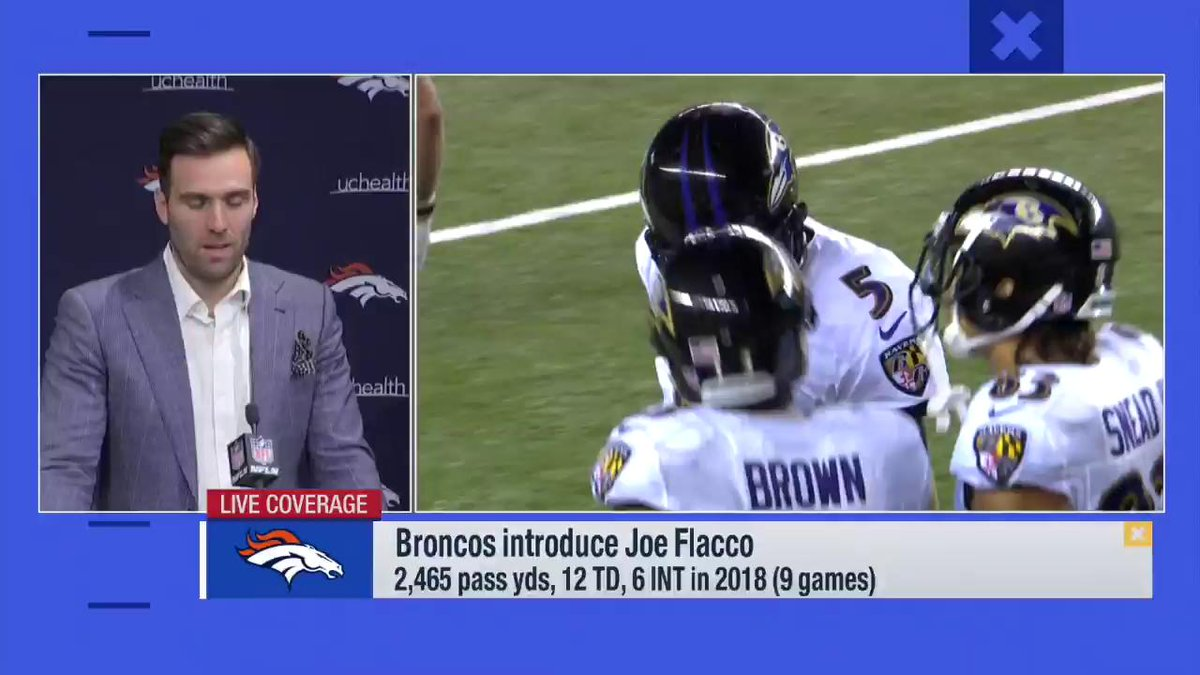The moment @JoeFlacco learned he'd been given a fresh start with the @Broncos. 🙌
