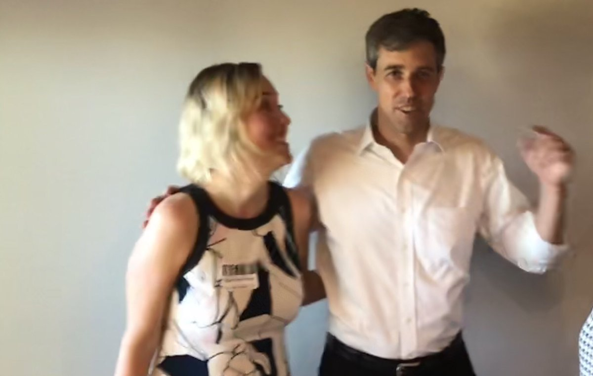 I hope someday that my wife looks at me the way this woman is looking at Beto.  BTW, this is my wife.  #Beto2020 #BetoMania