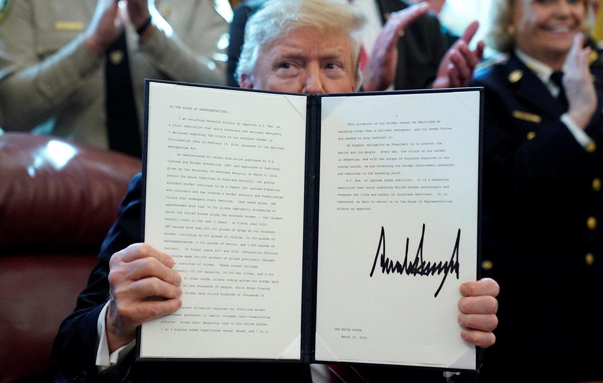 Trump vetoes measure against border emergency https://reut.rs/2FboKzQ