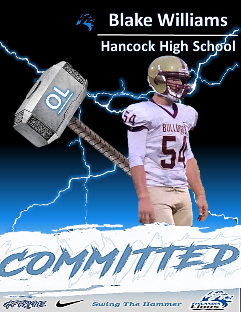 ad1b550ee69 ... joining the pride. Excited to welcome Blake Williams to the family. A  Hancock native