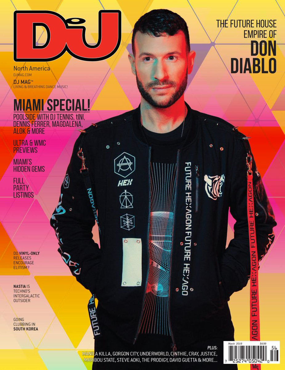 . @DonDiablo fronts DJ Mag North America's Miami special this month 🙌  On stands now or by subscription 👉 https://dj-m.ag/2RxugRs