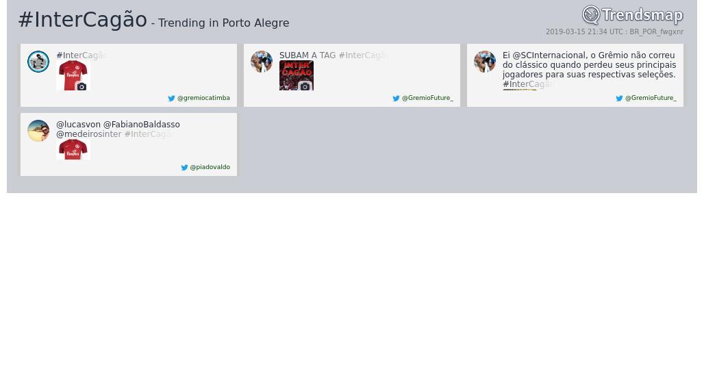 Trends Porto Alegre's photo on #InterCagão