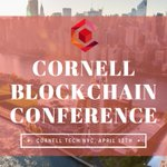Image for the Tweet beginning: Join us at Cornell Blockchain's