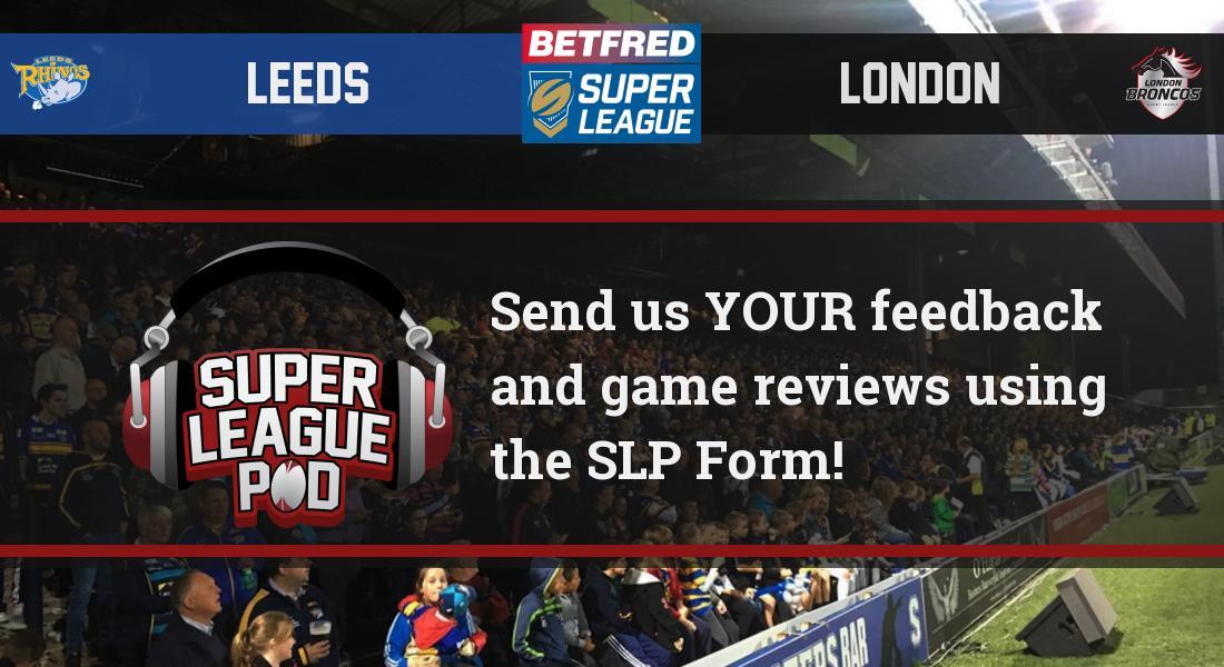 Super League Pod's photo on #SLLeeLon