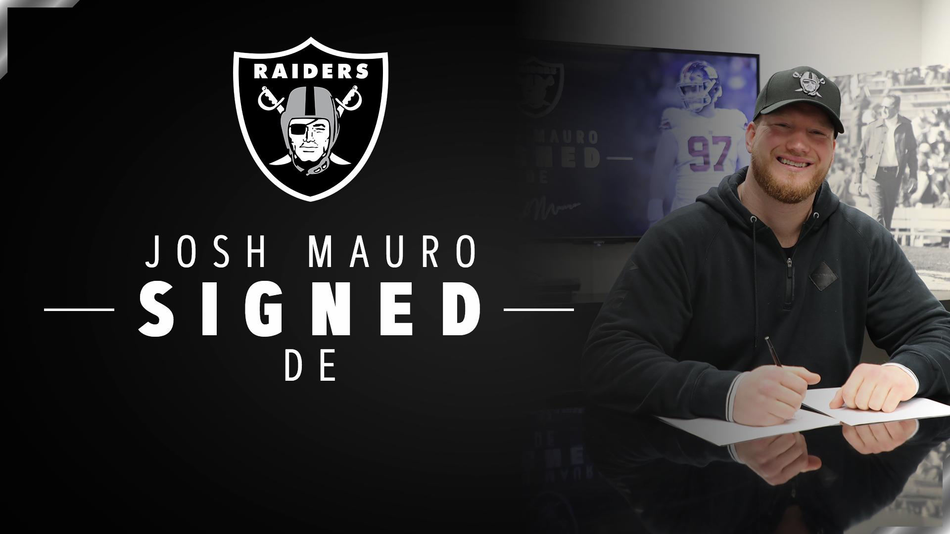 Another one. ��  We have signed DE Josh Mauro: https://t.co/mEjJb2SkwQ → @JustJoshin90 #RaiderNation https://t.co/9W3OaS4t6M