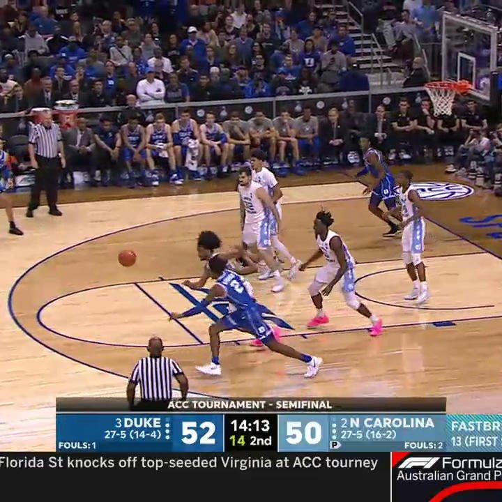 Nassir Little with the putback dunk!  We got a game folks �� https://t.co/E5UbHrQNmr