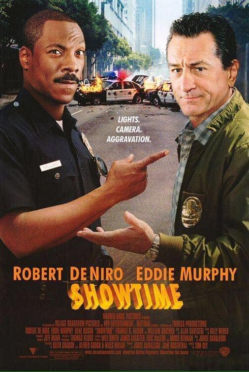MOVIE HISTORY: 17 years ago today, March 15, 2002, the movie 'Showtime' opened in theaters!  #EddieMurphy #RobertDeNiro #ReneRusso #FrankieFaison #PedroDamian #DrenaDeNiro @WilliamShatner #MosDef #PeterJacobson #KadeemHardison<br>http://pic.twitter.com/A93Kzz6N51