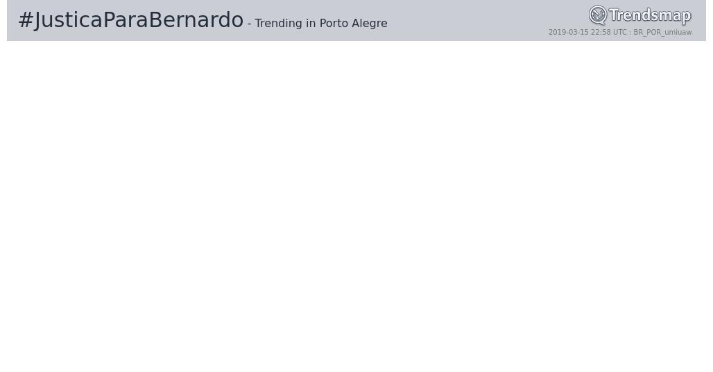 Trends Porto Alegre's photo on #JusticaParaBernardo