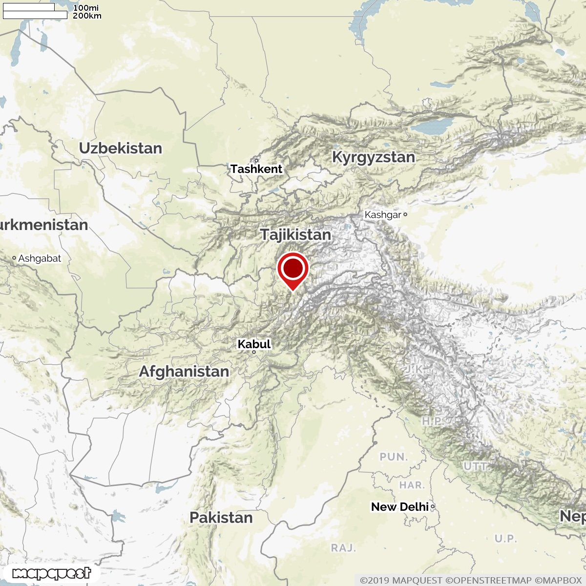 World Earthquakes on the Map's photo on #Afghanistan
