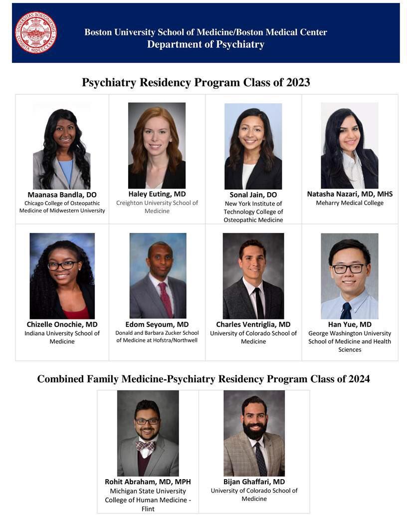 BU/BMC Psychiatry Residency (@BMCPsychRes) | Twitter