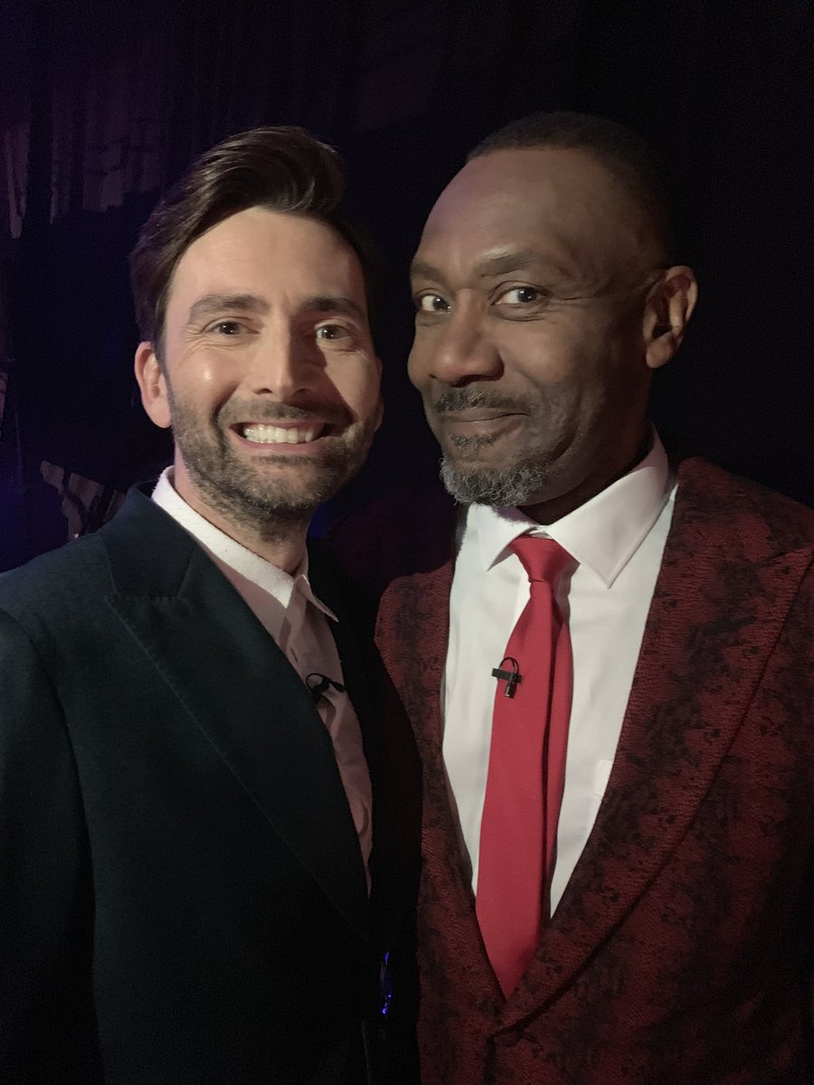David Tennant and Lenny Henry on Comic Relief - Friday 15th March 2019