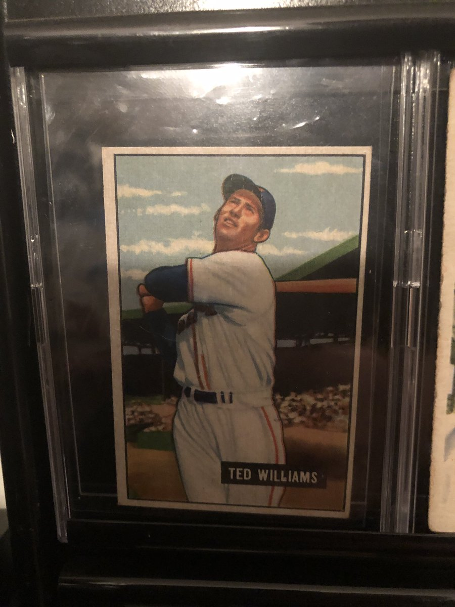 Can anyone aid in pricing this 1951 Bowman Ted Williams? @CardConnector