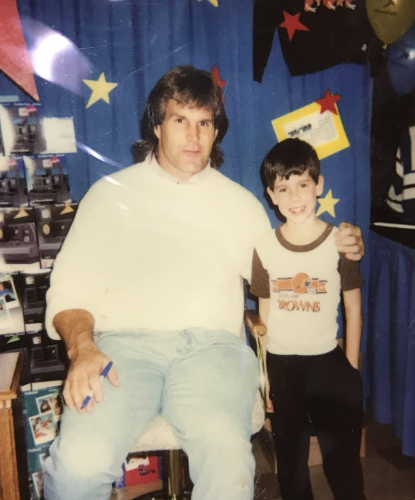 Happy Birthday Clay!!!! One of my favorite Birthday memories was turning 9, meeting #57, getting an autograph and a Polaroid with one of the greatest Browns linebackers of all time!