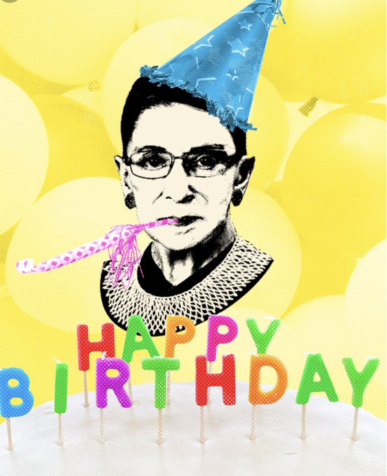 Happy Birthday to the one and only, Ruth Bader Ginsburg.