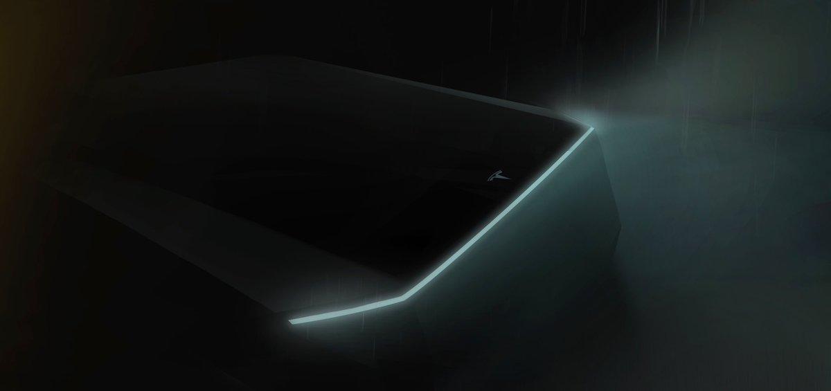 Tesla teases pickup truck at Model Y reveal