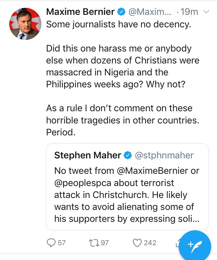 Gee. I'm trying to figure out what sort of foreign terrorist attacks @MaximeBernier *does* comment on, but I can't quite put my finger on it. (h/t @stphnmaher) #cdnpoli