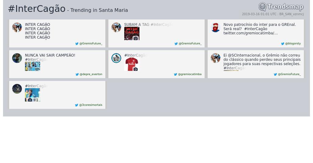 Trendsmap StaMaria's photo on #InterCagão
