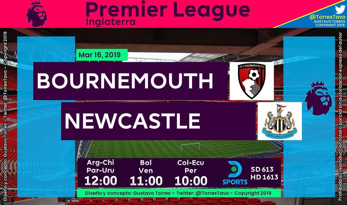 AFC Bournemouth - Newcastle United TV: @DIRECTVSports 613-1613 Narra: @brunovain  Comenta: @CarlitosSuarez #FutbolEnDIRECTV