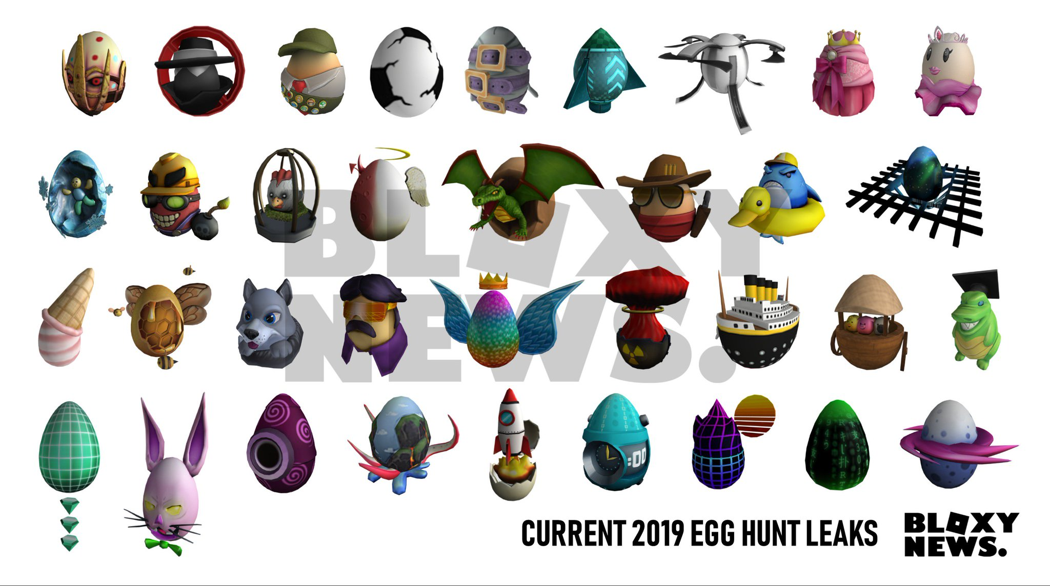 Eggs Being Leaked Egg Hunt 2019 Leaks Roblox - Bloxy News On Twitter Bloxynews All 2019 Roblox Egg