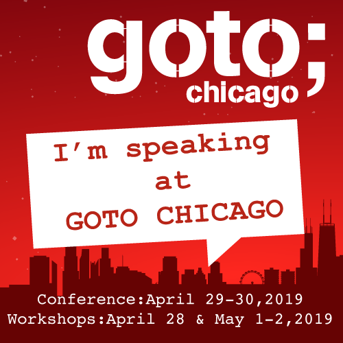 I'm speaking (on Python exceptions) & teaching (Python in general) at the next #GOTOchgo (April 28 - May 2)! Join me (use code 'ceder' for 10% off) for 5 days of talks & hands-on classes covering the latest in software development: https://gotochgo.com/2019/