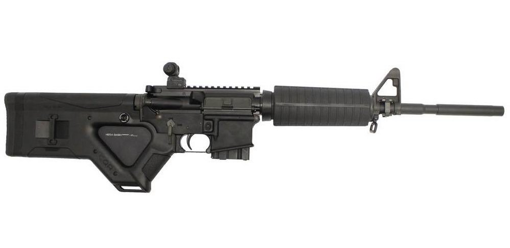 #YeniZelanda canisinin katliamı gerçekleştirdiği yarı otomatik tüfekler: AR-15'tir.  (ASG HERA ARMS CQR 5,56 AR-15)  Bu tüfekler ABD ordusunun kullandığı M16/M4 saldırı tüfeklerinin modifiye edilmiş versiyonudur.