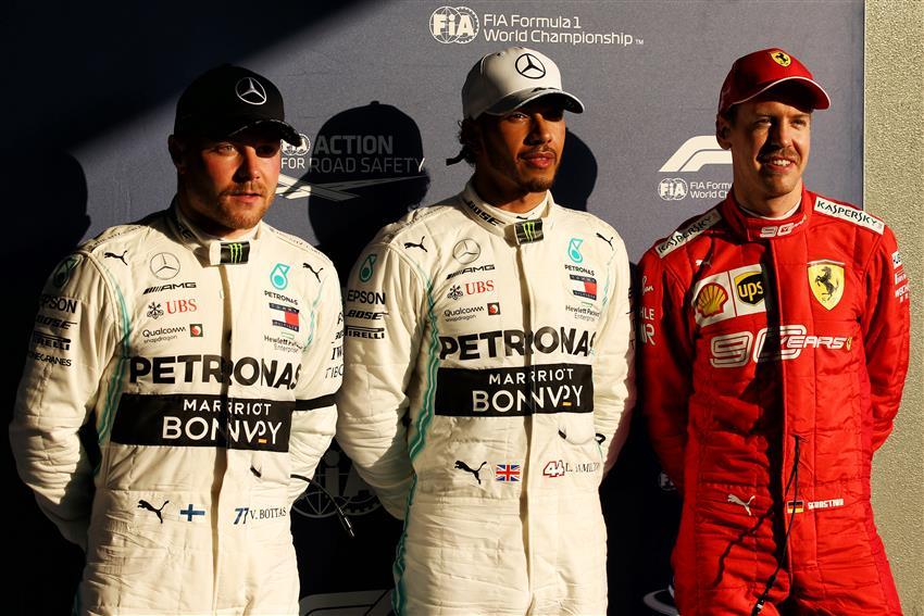 Sebastian Vettel #5's photo on Lewis Hamilton