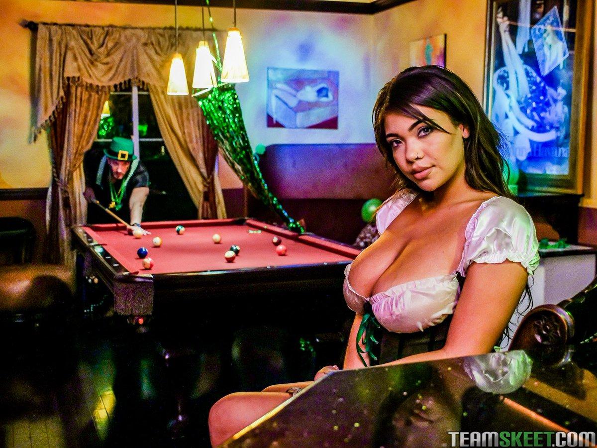 Busty barmaid ban #6
