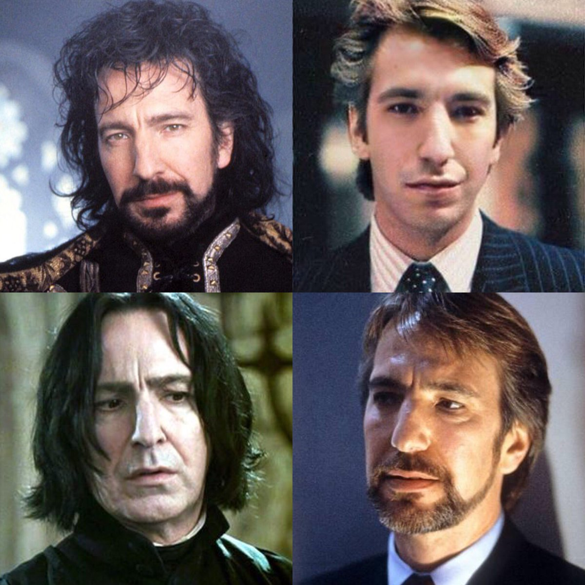 Any 4 pics of Alan Rickman together looks like an amazing 80's new wave band you wish existed