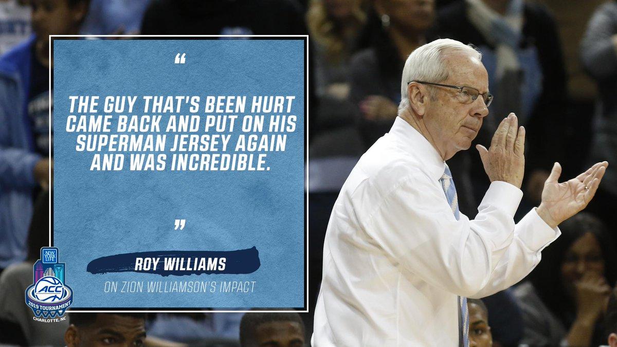 ACC Men's Basketball's photo on Roy Williams
