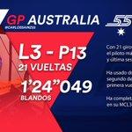 [INFO] 🇪🇸 Carlos Sainz, decimotercero en la última sesión de Libres en Australia 👉 https://t.co/X58mMzZTOf  🇬🇧 Carlos Sainz, thirteenth in final Free Practice at the Australian GP 👉 https://t.co/vNhUmtJG68  #carlo55ainz #AusGP 🇦🇺 #F1 #FP3