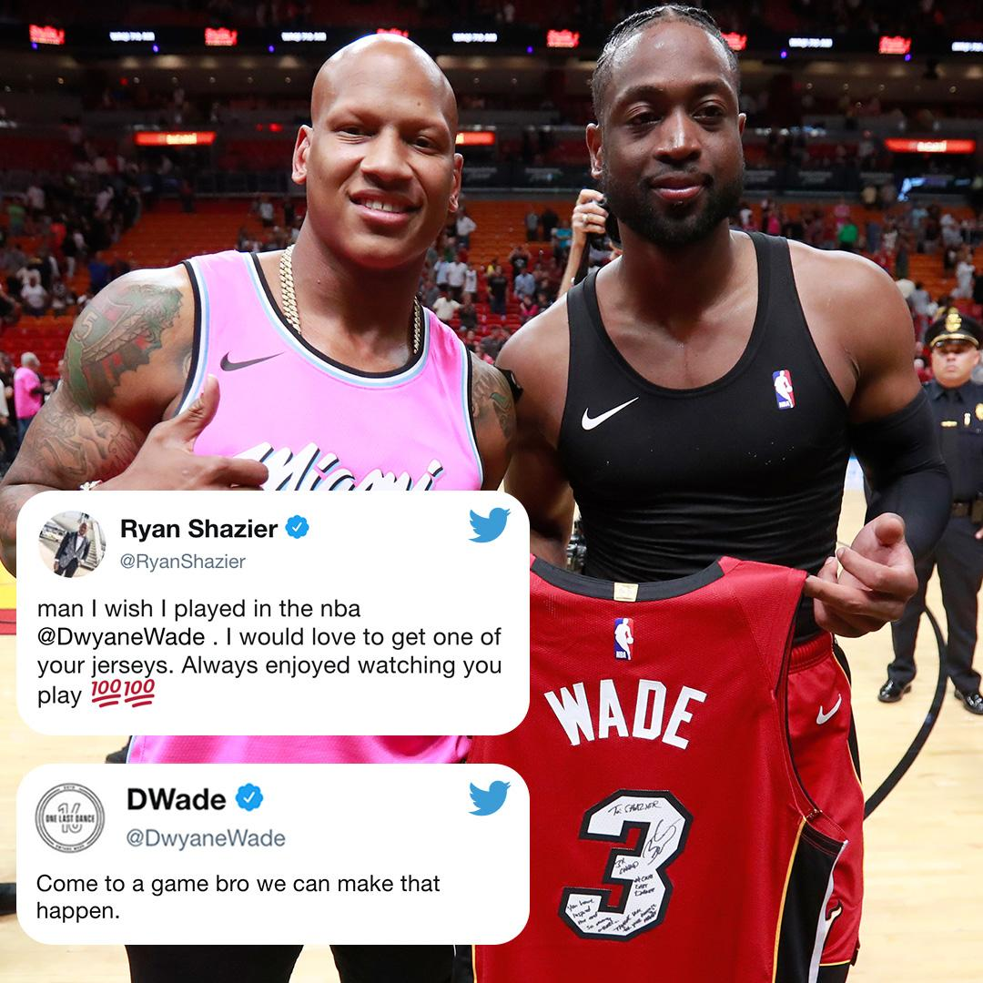 Back in January, @RyanShazier asked for @DwyaneWade's jersey.   On Friday, he kept his promise �� https://t.co/LF6FLCLIMK