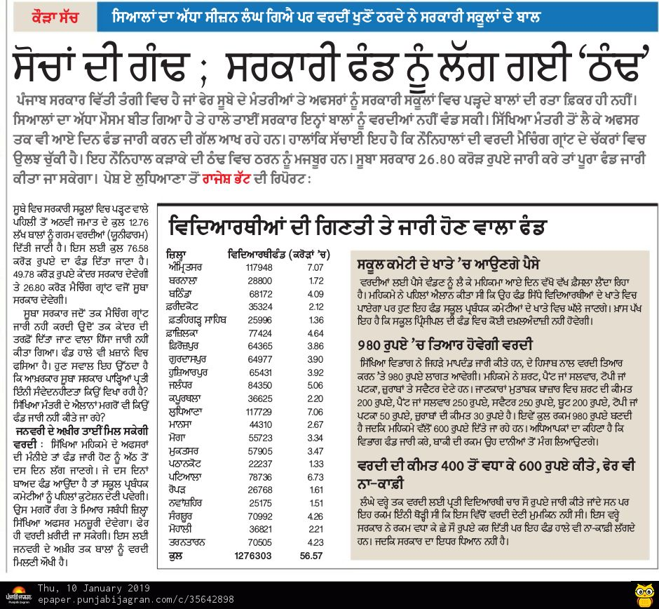 Several schools in Punjab are on the verge of closing down because of Congress government's special efforts. #VishwasghaatDivas <br>http://pic.twitter.com/bfwJXcZjY6