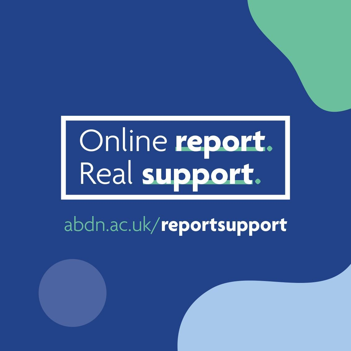 We have a zero tolerance policy against sexual harassment and violence. Our confidential reporting tool allows anyone in the @aberdeenuni community to make an online report if they experience or witness gender based violence or sexual harassment. http://bit.ly/2THuElx