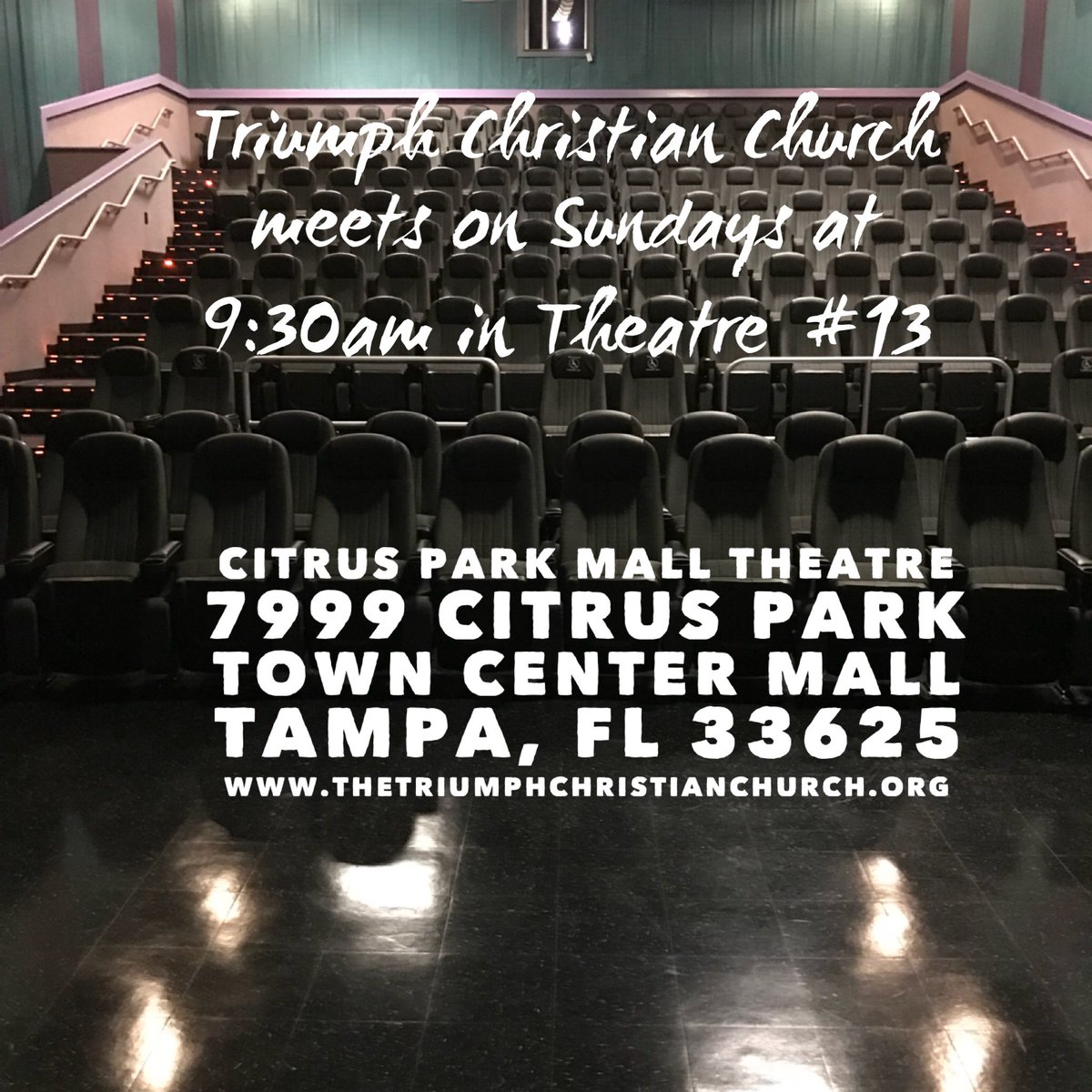 Join us at #TriumphChristianChurch for a service.