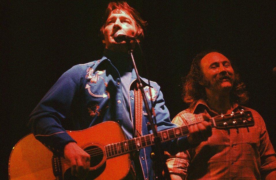 Gene Clark and David Crosby on stage c. 1978. #TheByrds #singersongwriter #GetGeneIn #SongwritersHOF<br>http://pic.twitter.com/5ltidd64uk