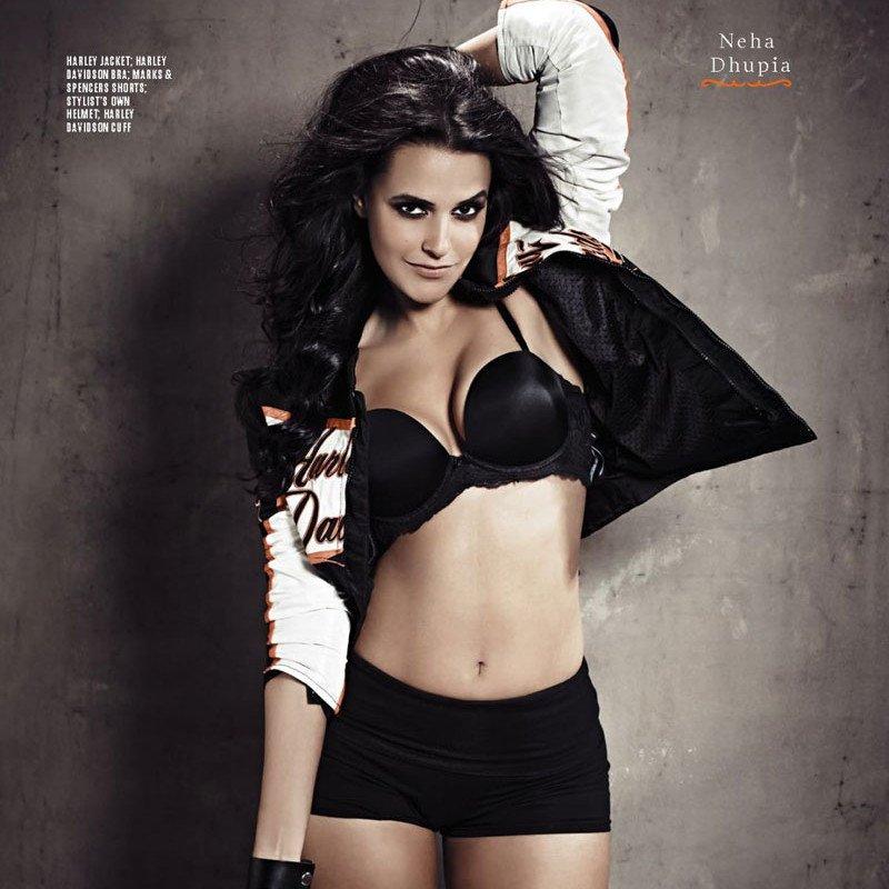 Neha Dhupia's Hot FHM Photos  http://blogonbabes.com/neha-dhupias-hot-fhm-photos/…  #NehaDhupia #Hot #Bollywood #BikerChick #BikerGear #India