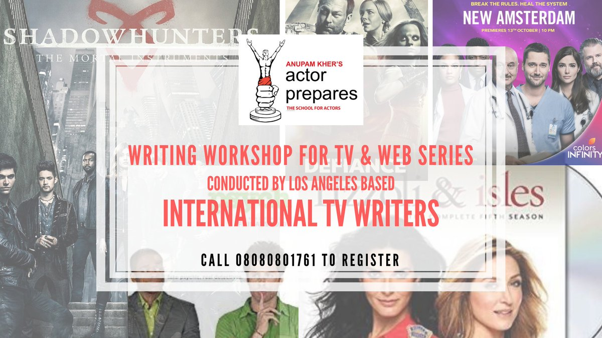 Do you have a concept for a TV show or Web Series for Netflix or Amazon? Learn how to develop & pitch it professionally in this workshop by International TV Writers & Producers @YShireenWhyNot  & @anupamnigam   #actorprepares #webseries #screenplay