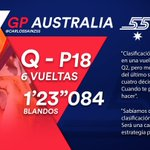 [INFO] 🇪🇸 Un incidente de un rival arruina la clasificación de Carlos Sainz en Australia 👉 https://t.co/29UqiXgX3x  🇬🇧 An incident related to another car ruins Carlos Sainz's Qualifying at the Australian GP 👉 https://t.co/DVSTuAFgCx  #carlo55ainz #AusGP 🇦🇺 #F1