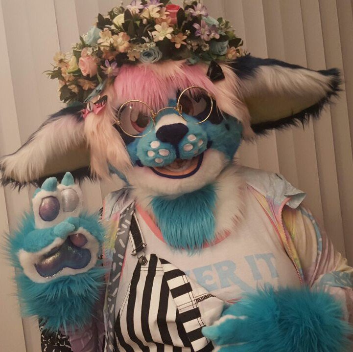 Give away  I&#39;m new to the community and wanted to give a little something back as way of introducing myself.  RT for a chance to win this oversized flower crown. Following is appreciated but not a requirement. Ends 3/31. #furry #furryfandom <br>http://pic.twitter.com/MRMpbbpiMn