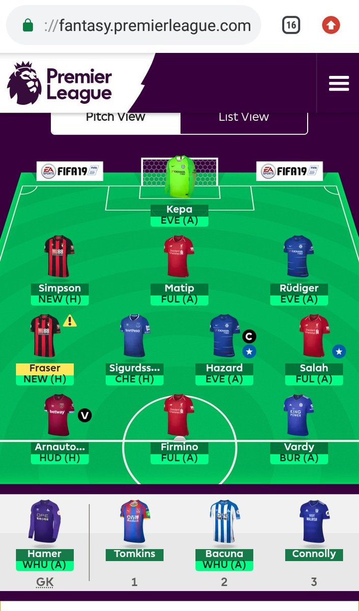 This is my free hit team 🤘 #fpl @OfficialFPL @FPLStatus #fpl #eveche