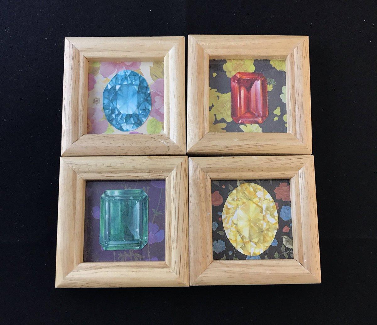 test ツイッターメディア - 「宝石標本」  #メルメリィマーケット に持っていくミニ原画を追加で制作しました!  #コピック #ミニ額  #セリア https://t.co/CCr4RrsZwi