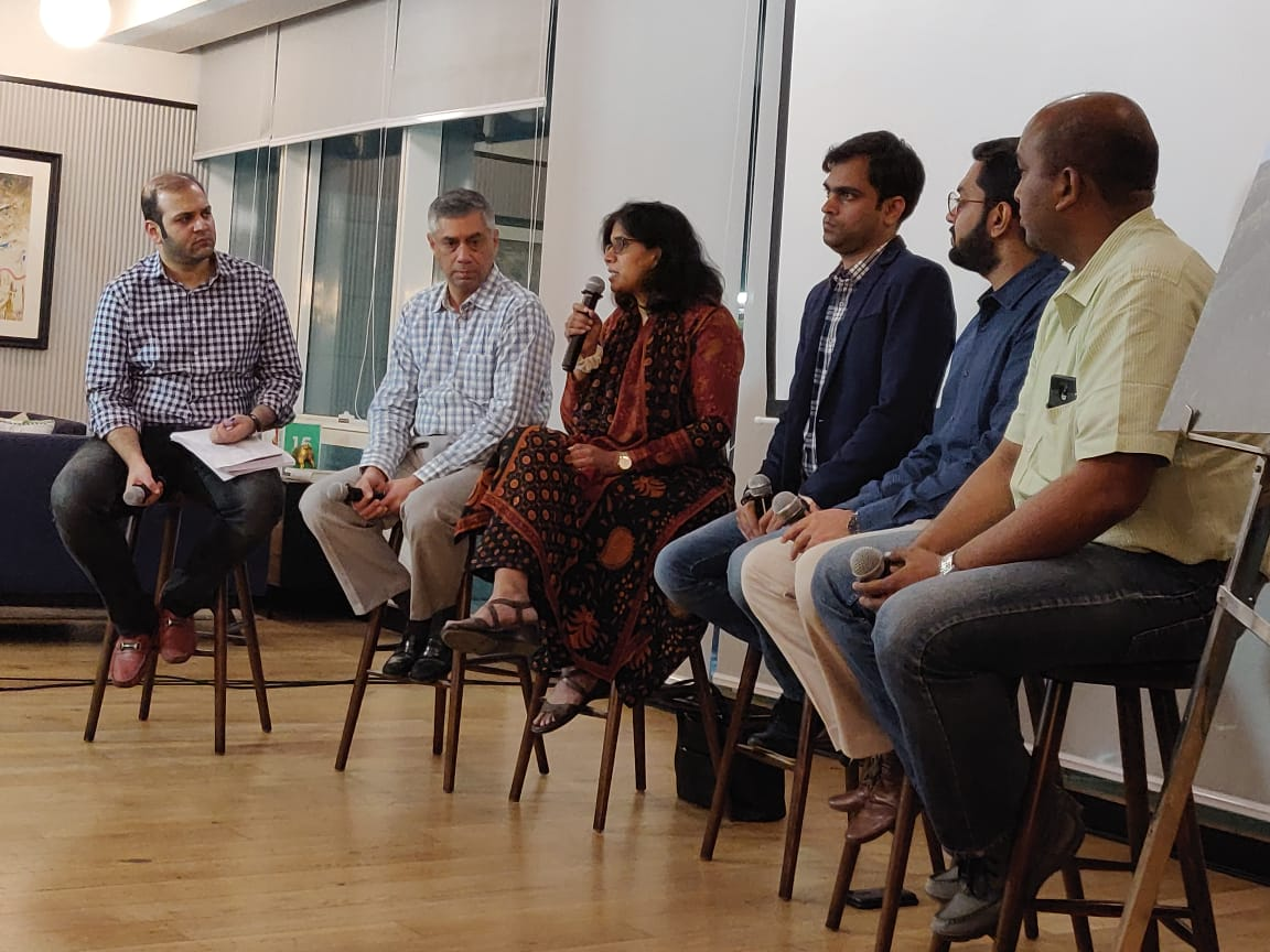 Arjit Johri (@JohriArjit) of the Bharat Innovation Fund (@bharat_fund) at the AWS Agritech Day, contributing to the discussion on &#39;Will AgriTech create the next Unicorn?&#39; as part of the VC Panel. <br>http://pic.twitter.com/xOQYQPawMJ