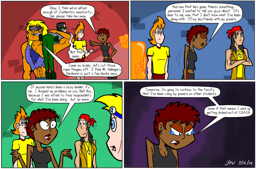 Virago has some fun with a superheroine